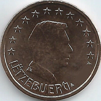 Luxembourg 2 Cent Currency Coin 2002 2017,uncirculated/brilliant Uncirculated