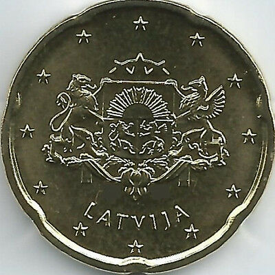 Latvia 20 Cent Currency coin (2014 - 2016), uncirculated/brilliant uncirculated