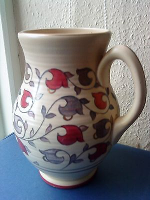 Large Crown Ducal Handled Jug/vase Attributed To Charlotte Rhead Not Signed 22Cm