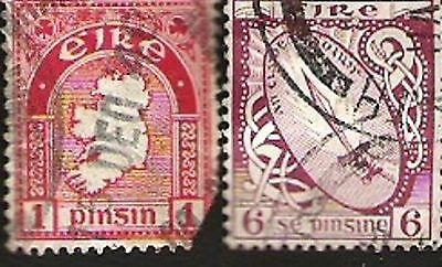Postage Stamps Ireland - 2 stamps very old