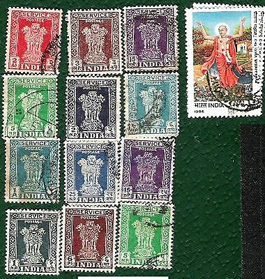 Postage Stamps india - 29 stamps