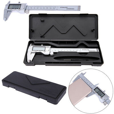 """6"""" 150mm Digital Stainless Steel Caliper Electronic Micrometer LCD Guage Tool UK"""