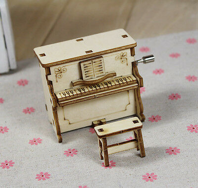 Wooden Vintage Lovely The Piano Music Box Musical Box For Birthday Christmas