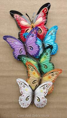 Large Colourful Metal Butterfly Wall Art Sculpture Home Decor New