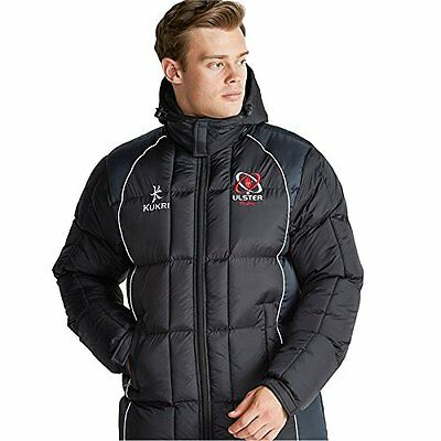 Ulster Rugby Mens Elite Bench Jacket Full Length 2016-17 - FREE DELIVERY