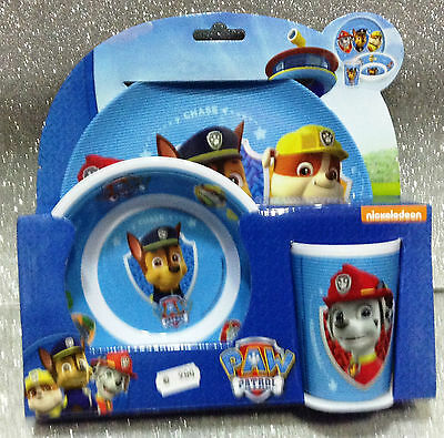 Paw Patrol Set Tavola Melanina Piatto Bicchiere Ciotola Plastic Dinner Set Child