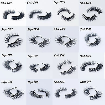 Real 3D Mink Soft Long Natural Makeup Eye Lashes Thick False Eyelash 16 Style