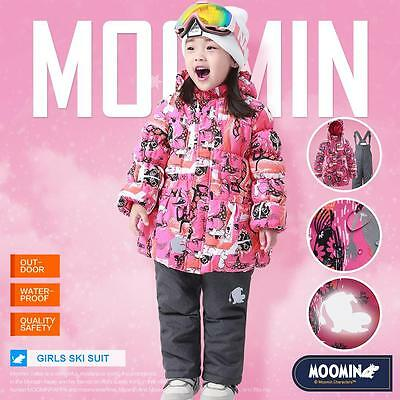 Moomins Girls snowsuit ski suit Kid winter jacket coat trousers pants waterproof
