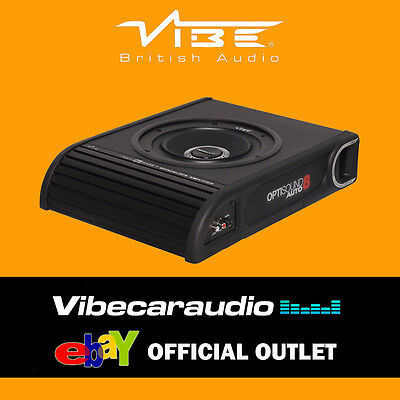 Vibe Optisound Auto 8 8A - Active 900W Shallow Mount Bass Underseat Subwoofer