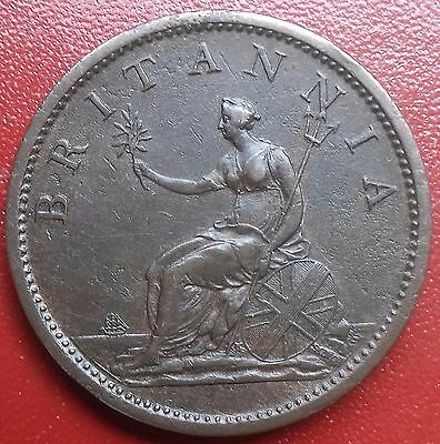 1807 Penny. George 111 British Milled Coins.