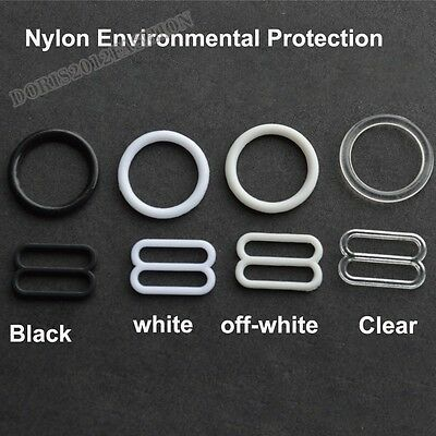 100pcs Nylon EP Bra strap Adjustment buckle slide Rings Figure 8 & 0 pick 4color