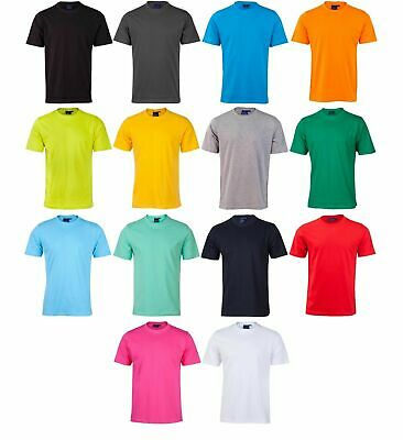 Mens Plain Semi Fitted Tee | Adult 100% Blank Cotton Tshirt |Plus Size S-3XL 5XL