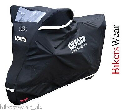 Oxford Stormex Ultimate Weather Motorcycle Bike Rain Outdoor Cover Large  2016