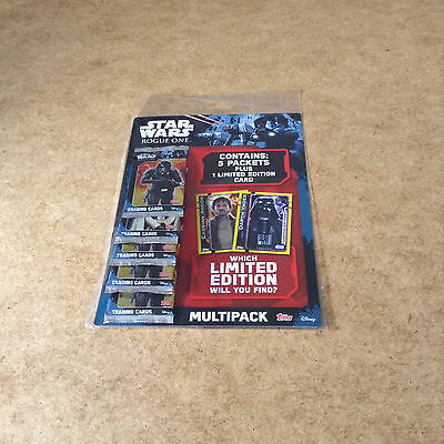 Topps Star Wars Rogue One Multi Pack = 5 Packets + 1 Limited Edition Card