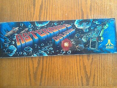 Vintage Commercial Video Game Asteroids Deluxe Panel