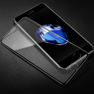 3D CURVED Tempered Glass 9H iPhone 7  Full Sreen Protector Black Cover* Glas S
