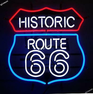 New HISTORIC ROUTE 66 MOTHER REAL NEON SIGN BEER BAR LIGHT Fast Shipping