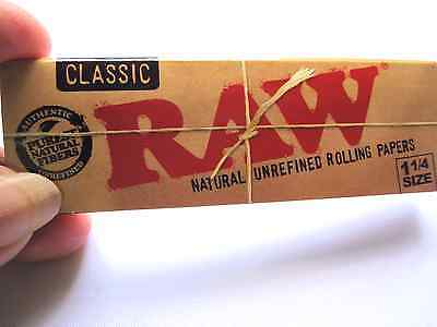 Raw Unbleached Classic 11/4 Sz Natural Vegan Cigarette Rolling Papers 4Pks of 50