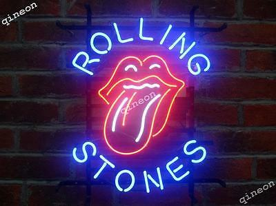 RARE 2016 New Style Rolling Rock Tongue and Roll Music Neon Sign Beer Bar Light