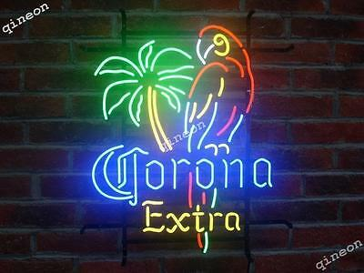 2016 NEW Style Corona Extra Parrot Palm Tree Neon Sign Home Beer Tiki Bar Light