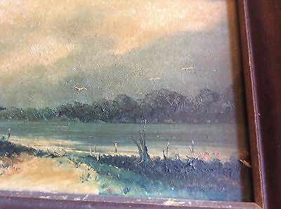 VINTAGE Exquisite Oil Painting Plein Air 19th Century Signed Rare Framed