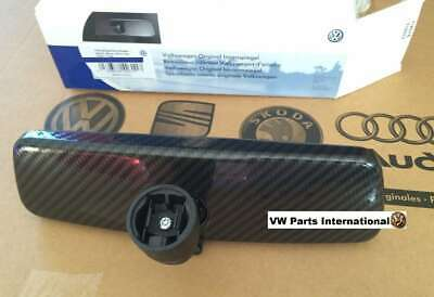 VW Golf MK4 GTI R32 Black Rear View Mirror Carbon Fibre Style Genuine New OEM VW