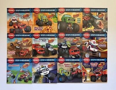 Blaze Monster Machines Childrens Books Phonics Learn to Read Lot 12