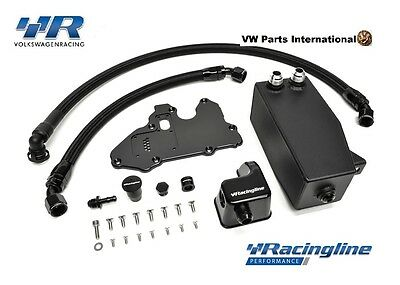 VW Golf MK7 R GTI 2.0TSI Racingline Oil Catch Tank & Management Kit Volkswage...