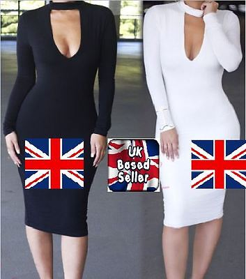 UK Womens Bodycon Cocktail Bandage Dress Ladies Party Evening Size 6-14 CD8