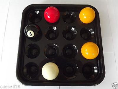 Ball Carrying / Holder Tray for 16 Pool & Snooker Table Balls - All Sizes