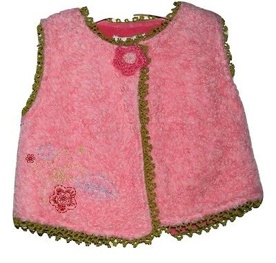 Confetti Baby Girl Vest Top Sleeveless Cardigan French Designer Size 00 6 Months