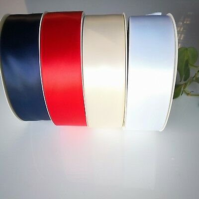 Satin Ribbon White Ivory Pink Blue Lilac, Decorate Wedding Car 50mm x 7m