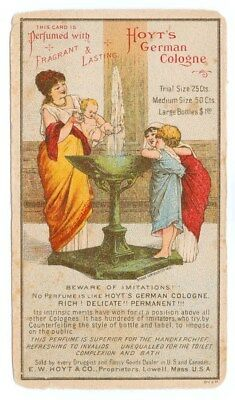Hoyts German Cologne Grecian Woman And Children At Fountain Victorian Trade Card