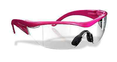 Safety Girl Polycarbonate Safety Glasses Clear Lens Pink Frame By SafetyGirl