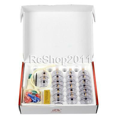 32 Cups Medical Chinese Vacuum Body Cupping Massage Therapy Healthy Suction Set