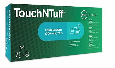 Ansell TNT Touch N Tuff Premium Long Cuff Green Nitrile Disposable Gloves 300mm