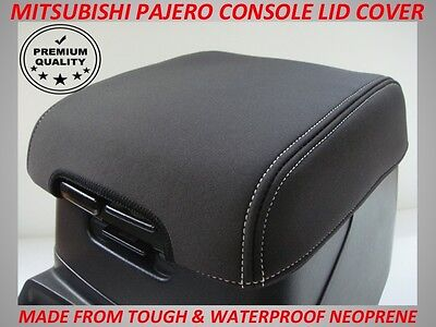 Mitsubishi Pajero Neoprene  Console Lid Cover (Wetsuit Material) 2000 - Current