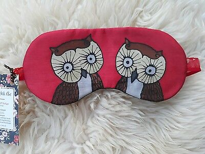 1 Elegant Pure Silk with Lavender Handmade Eye Sleeping Mask Travel Relax Owls