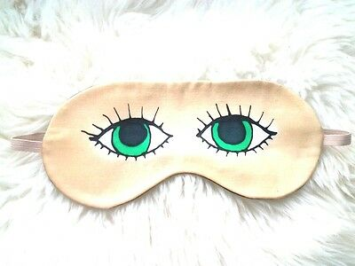 1 Funny Pure Silk with Lavender Handmade Eye Sleep Mask Travel Relax Eyes  Face