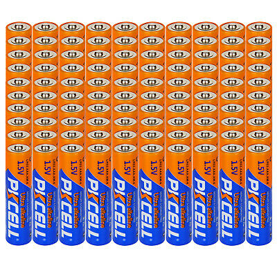 100 × AAA Alkaline Batteries LR03 AM4 1.5V Industrail Dry Battery CA Fast Ship