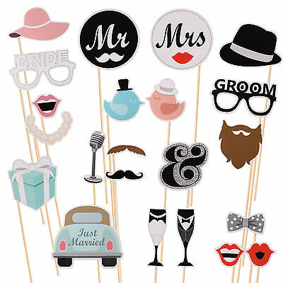 22 pcs Hen Party Photo Booth DIY Props Girl Night Out Games Bride Wedding Favors