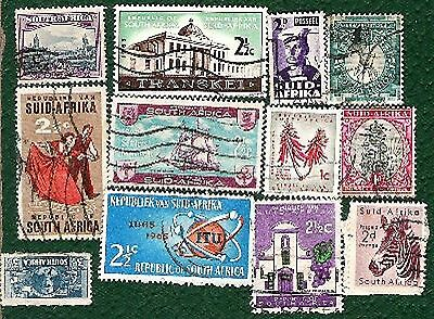 Postage Stamps  South Africa - 12 stamps
