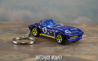 '63 '64 '65 Chevy Corvette Grand Sport Roadster 1/64 Scale KeyChain Porte Cles