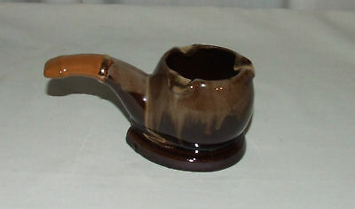 Vintage Artmark Ceramic Pipe Ashtray or Planter - Pipe Shaped