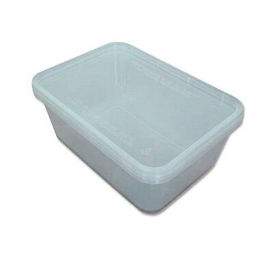 50 x 650ml Plastic Microwave Containers Food Disposable Lunch Takeaway Storage