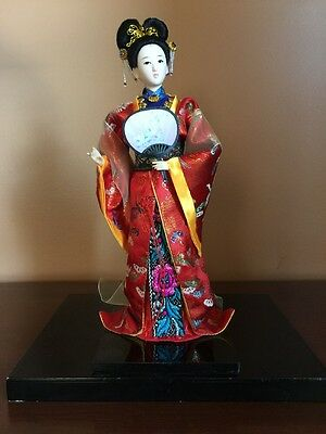 Oriental Broider Doll 11 Inches Tall