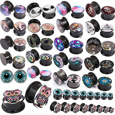 Acrylic Ear Tunnel Plugs Ear Gauges Ear Expander Body Piercing Multi-styles 2pcs