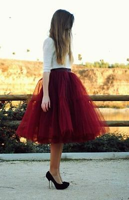 5 and 2 Layer Maxi Long Tulle Skirt Celebrity Skirts womens Adult Tutu Ball Gown