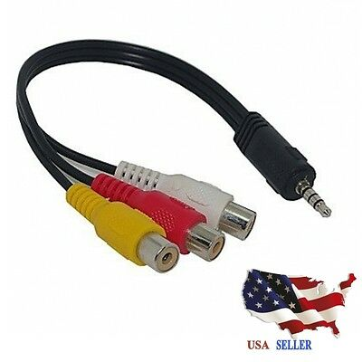3 5mm mini av male 3 rca female audio video cable stereo jack 3 5mm mini av male to 3rca female m f audio video cable stereo jack