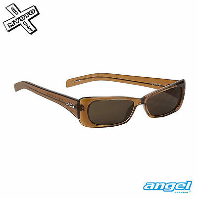 Angel Eyewear 'belle' Sunglasses Crystal Maple Frame + Brown Lens Bnib Rrp £60